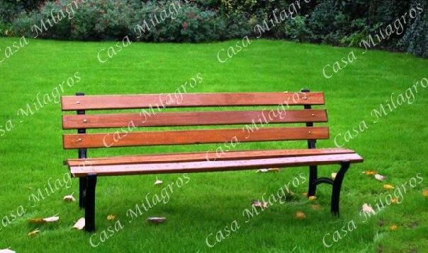 Im genes de bancos de plaza patio jardin 1165425207 en for Bancos de hierro para jardin
