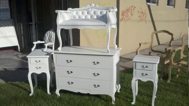 de muebles luis xv, sillones luis xv , chaise longue en Tigre