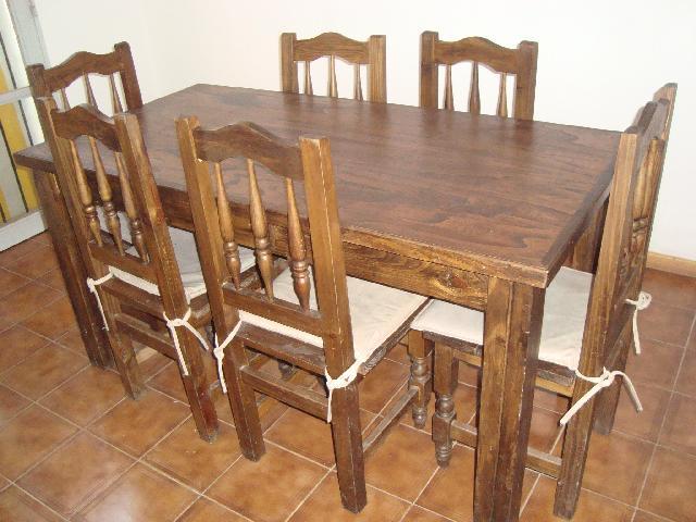 Vendo juego comedor rustico en guaymallen for Vendo bar de madera