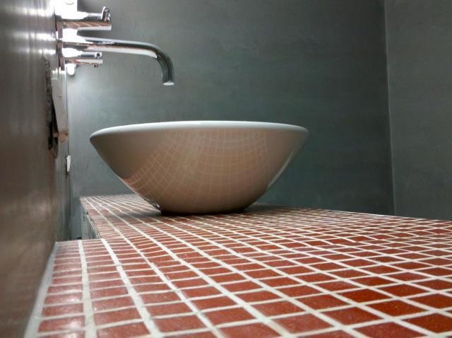 Baño Microcemento Alisado:MICROCEMENTO, CEMENTO ALISADO Y HORMIGÓN IMPRESO en Mendoza